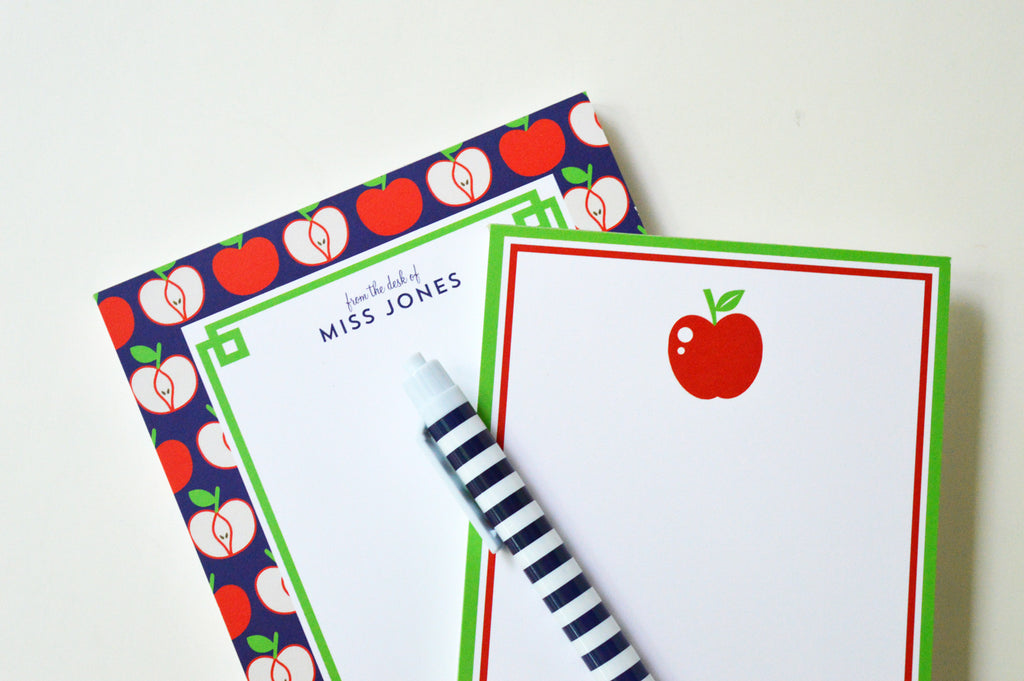 Apple Fretwork Personalized Notepad
