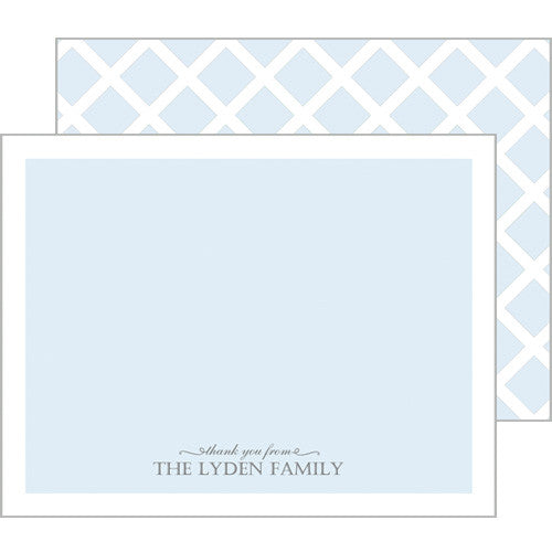 Baby Blue Thank You Flat Notecards