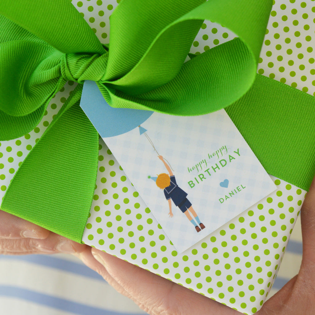 Birthday Boy Personalized Gift Tags