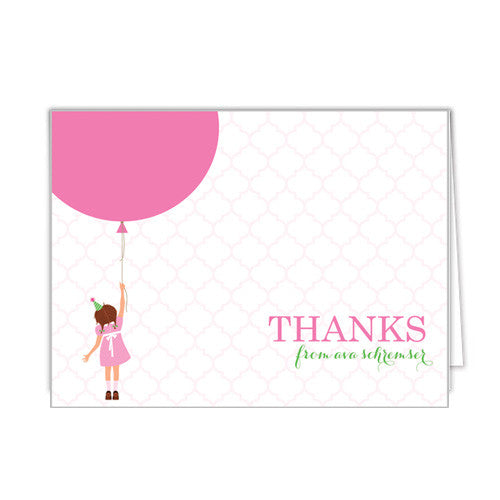 Birthday Girl Personalized Folded Notecards