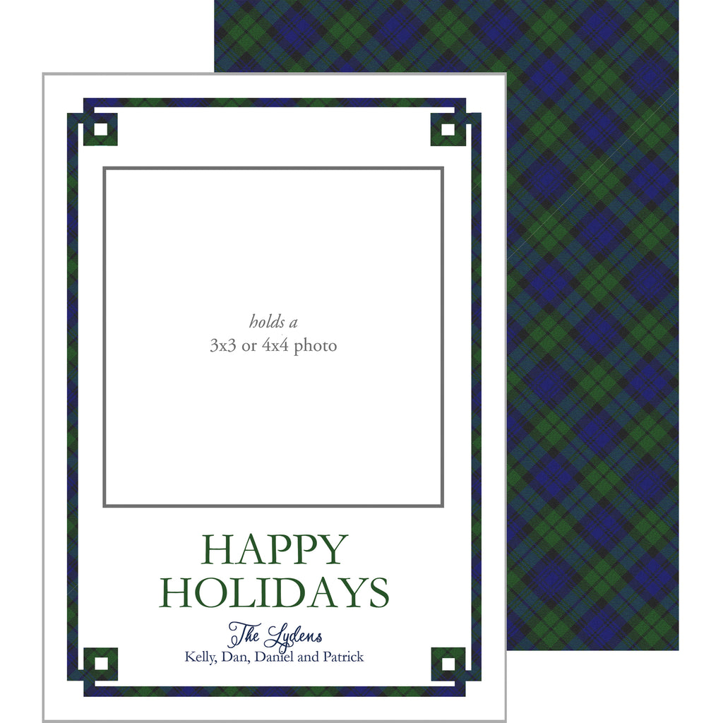 Photo Mount Holiday Photo Card | Black Watch Fretwork