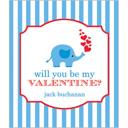 Blue Elephant Kids Valentines