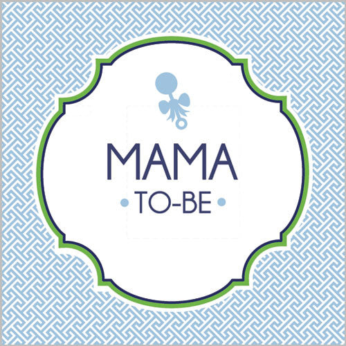 Blue & Green Preppy Mama-to-be Chair Sign