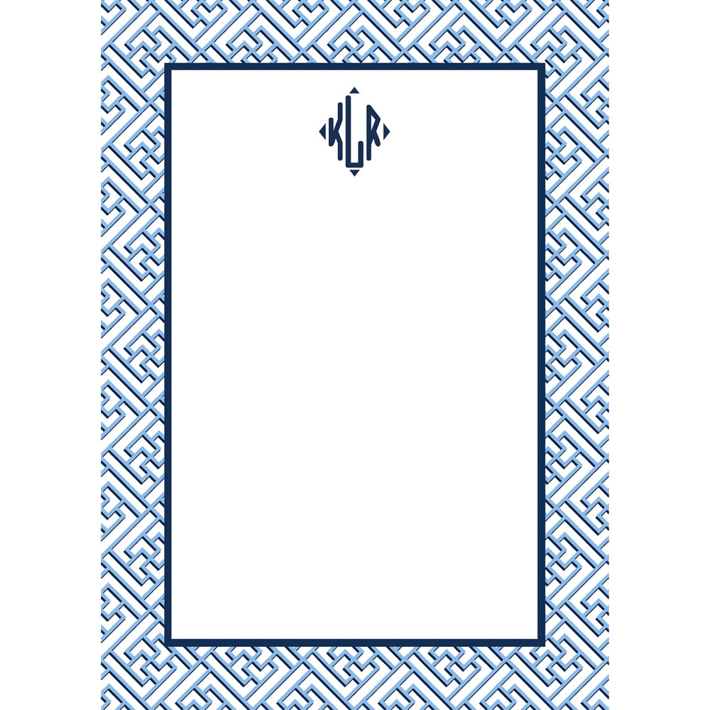 Trellis Fretwork Personalized Notepad | More Colors