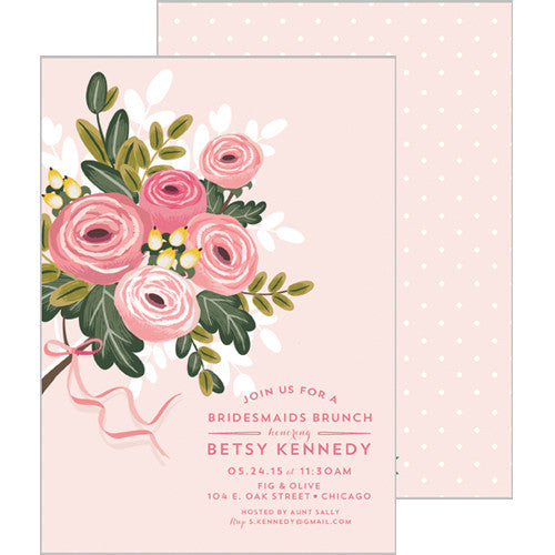 Bridesmaid Bouquet Invitation