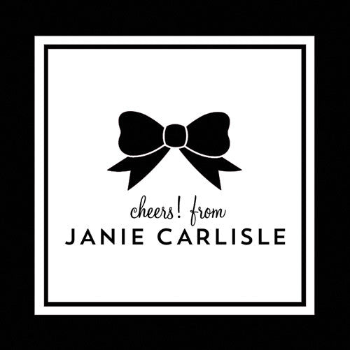 Classic Bow Gift Sticker - Set of 24 - Black