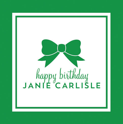 Classic Bow Gift Sticker - Set of 24 - Green