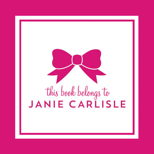 Classic Bow Gift Sticker - Set of 24 - Hot Pink