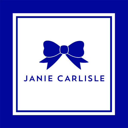 Classic Bow Gift Sticker - Set of 24 - Navy Blue