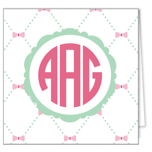 Bow Lattice Text Enclosure Cards + Envelopes