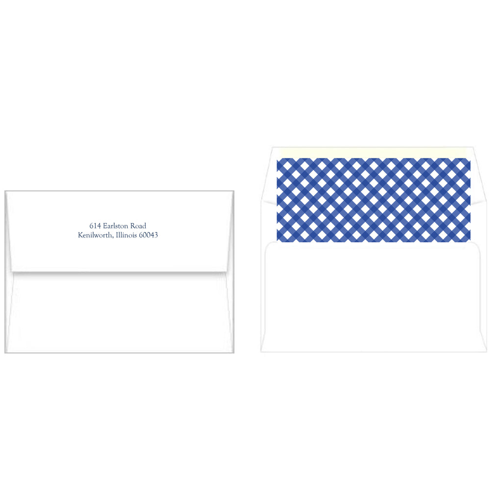 Boxwood Shield Gingham Holiday Photo Card