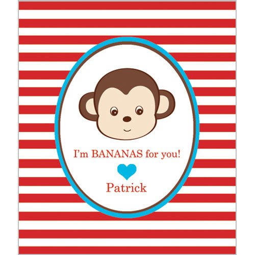 Boy Monkey Valentines for Kids