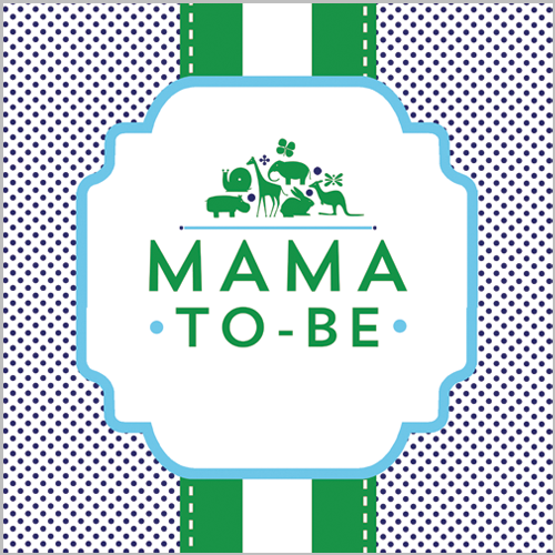 Preppy Animal Silhouettes Mama-to-be Sign - Boy