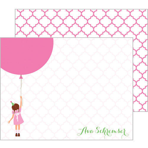 Birthday Girl Personalized Flat Notecards