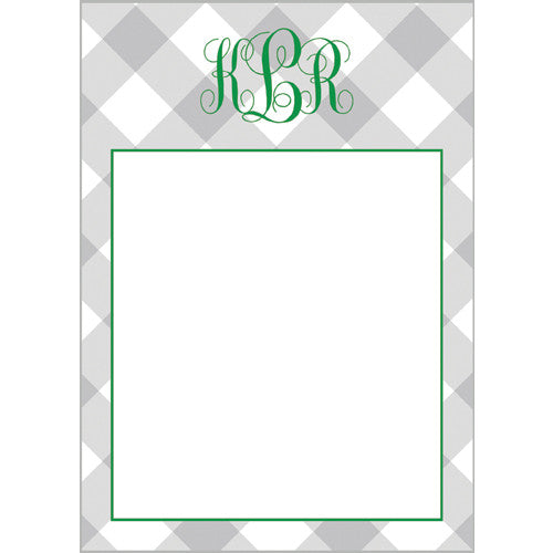 Buffalo Check Monogram Personalized Notepad | More Color Options