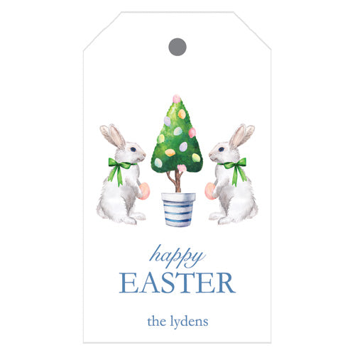 Easter bunny topiary tree personalized gift tags easter bunny tree personalized gift tags negle Image collections