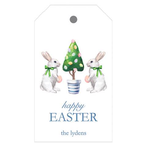 Personalized preppy easter party invitations and gift packaging easter bunny tree personalized gift tags negle Image collections