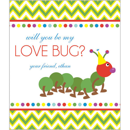 Colorful Caterpillar Valentines for Kids
