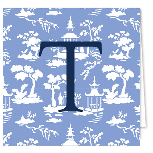 Chinoiserie Toile Personalized Enclosure Cards + Envelopes