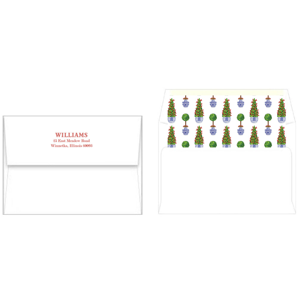 Chinoiserie Topiary Christmas Photo Cards
