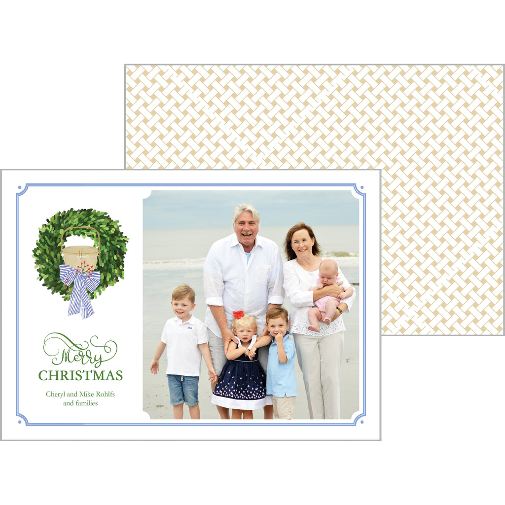 Nantucket Basket Christmas Photo Card