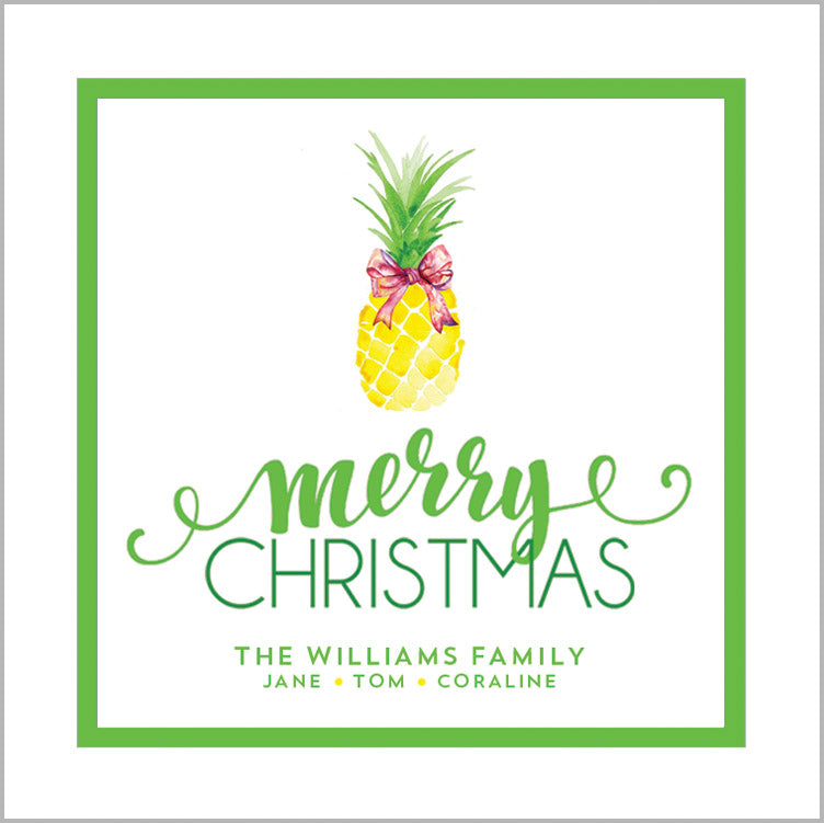Christmas Pineapple Gift Sticker | Set of 24