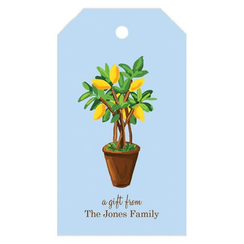Citrus Topiary Personalized Gift Tags