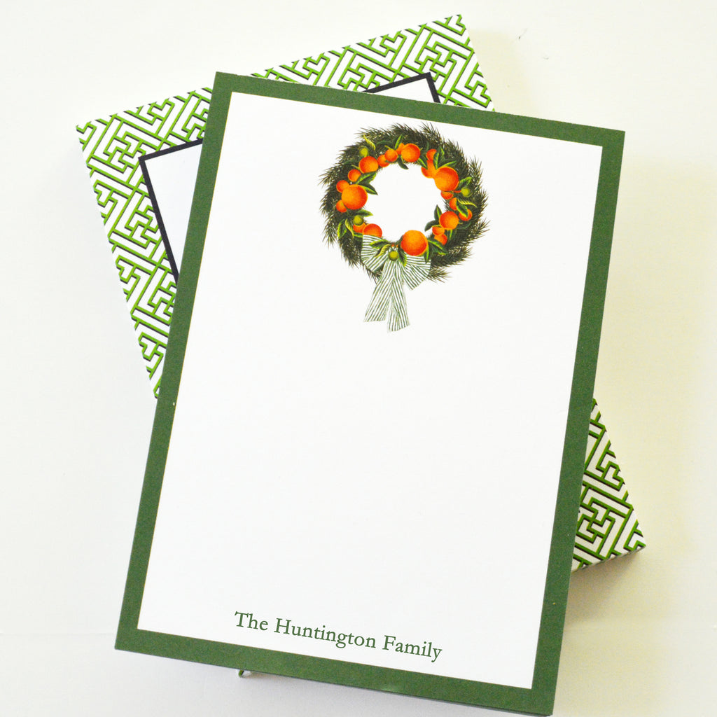 Citrus Wreath Personalized Notepad