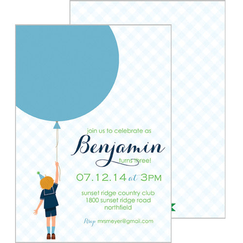 Birthday Boy Invitation - Blond