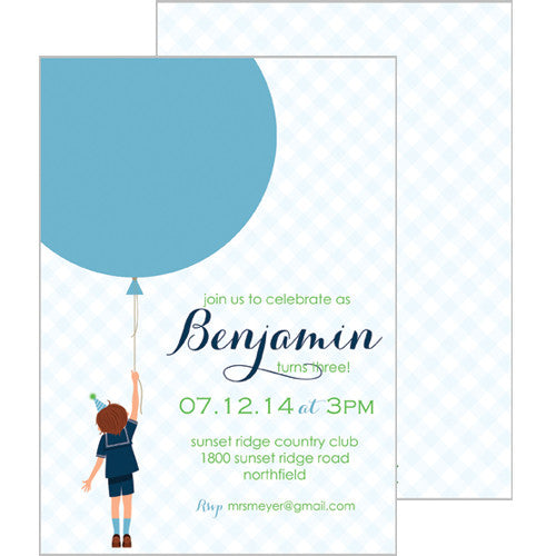 Birthday Boy Invitation - Brunette