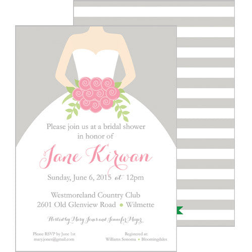 Classic Bride Bridal Shower Invitation
