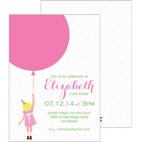 Birthday Girl Double-Sided Invitations - Blond