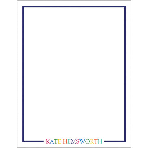 Colorful Name Personalized Notepad - More Color Options