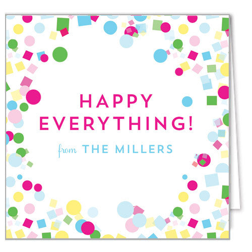 Colorful Confetti Enclosure Cards + Envelopes