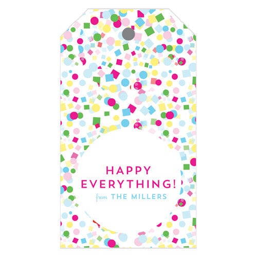 Colorful Confetti Personalized Gift Tags