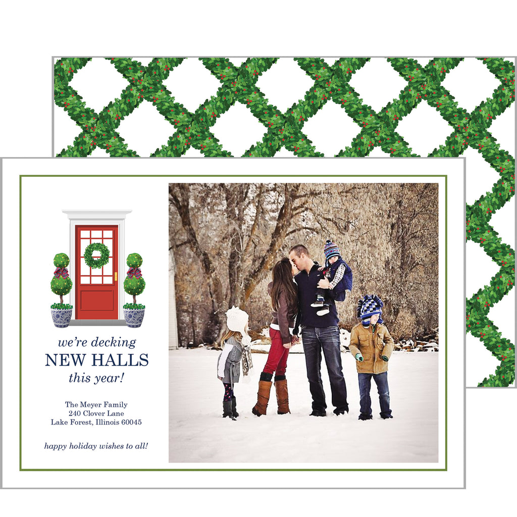 Decking New Halls Holiday Photo Card for New Home