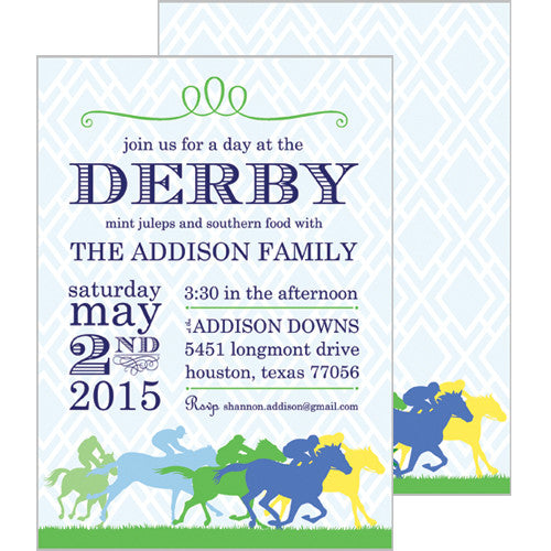 Derby Horse Race Invitation
