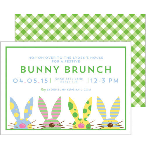 Easter Bunny Gingham Invitation