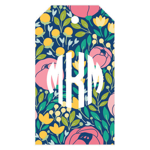 Fall Floral Monogrammed Gift Tags