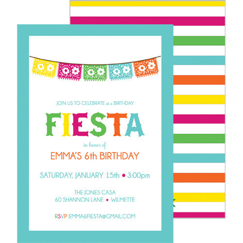 Fiesta Party Double-Sided Invitation