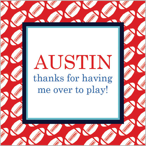Football Gift Sticker - Set of 24