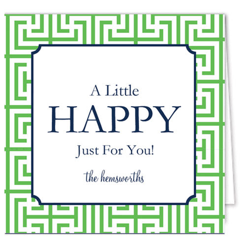 Garden Maze Personalized Enclosure Cards + Envelopes