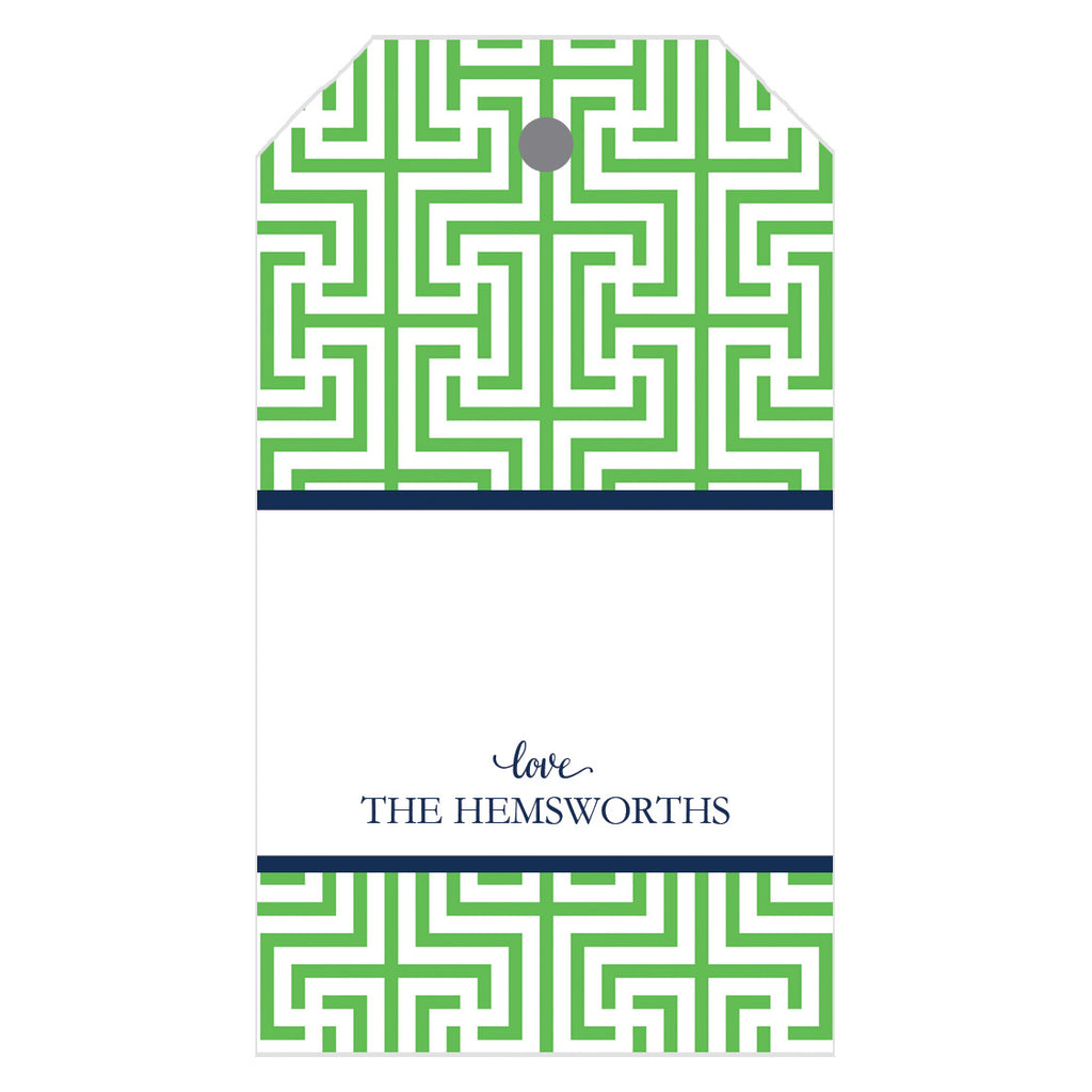 Garden Maze Personalized Gift Tags