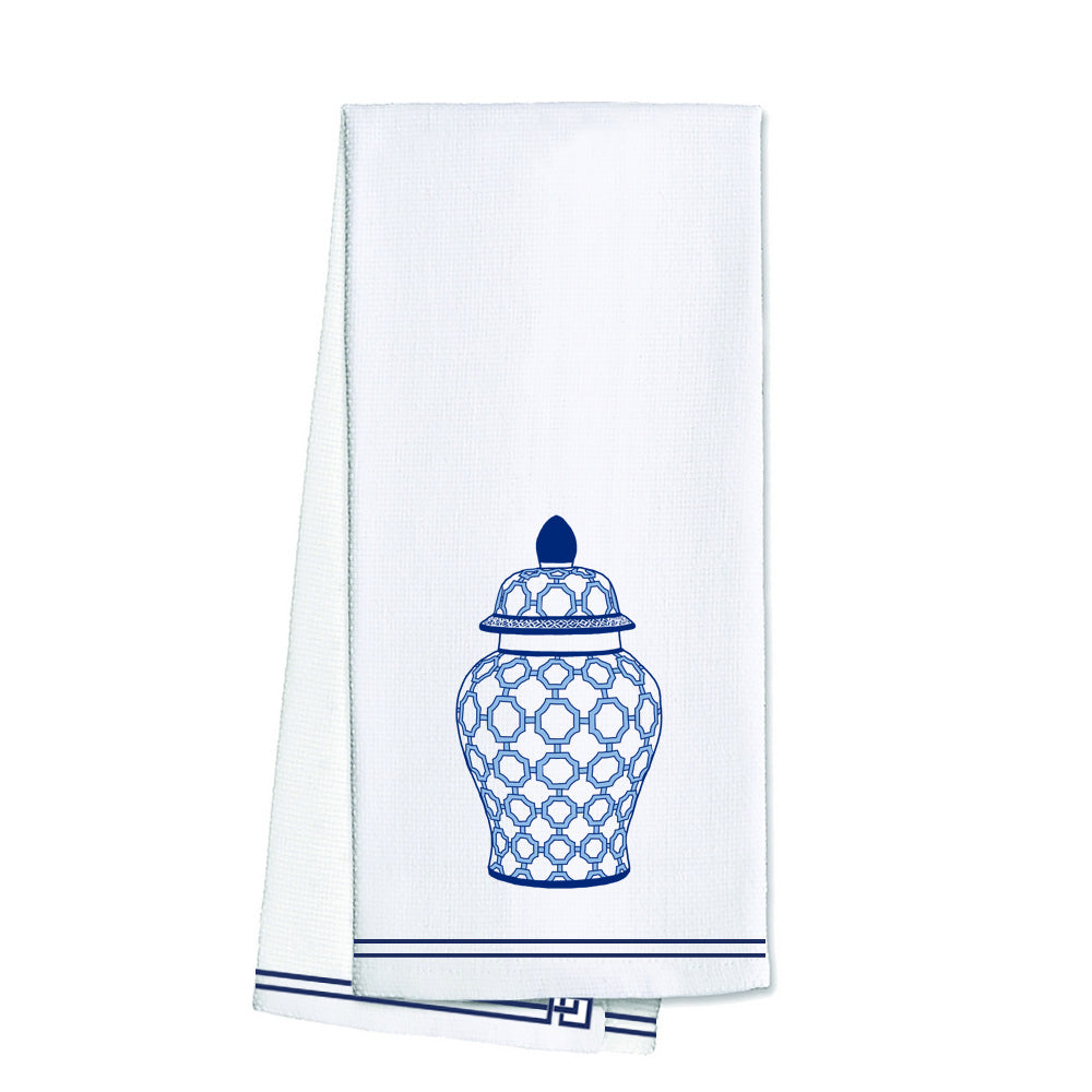 WH Hostess Cotton Tea Towel | Geometric Ginger Jar