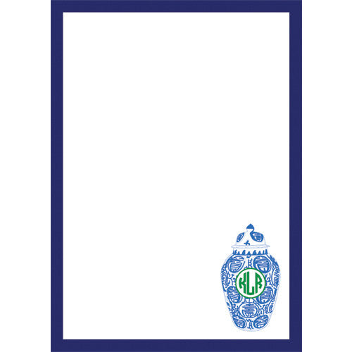 Ginger Jar Monogram Personalized Notepad