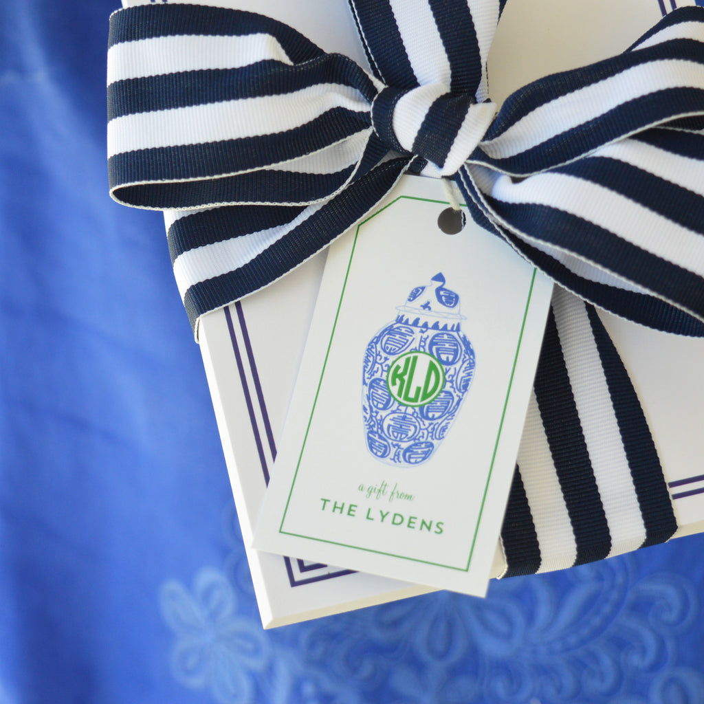 Ginger Jar Monogrammed Gift Tags