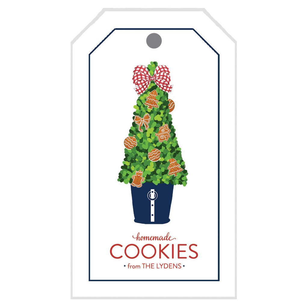 Gingerbread Cookie Topiary Christmas Gift Tags