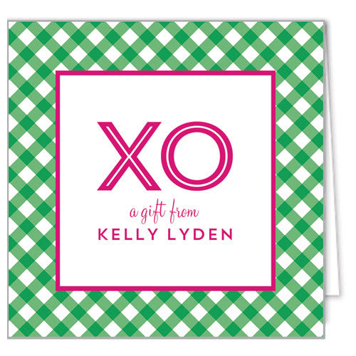 Gingham Check Enclosure Cards + Envelopes | More Colors