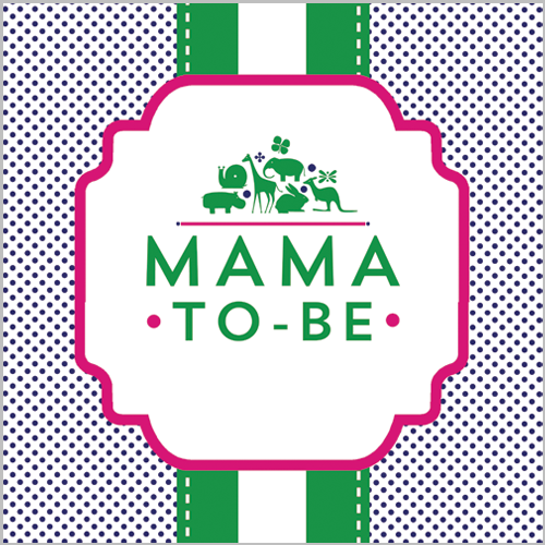 Preppy Animal Silhouettes Mama-to-be Sign - Girl