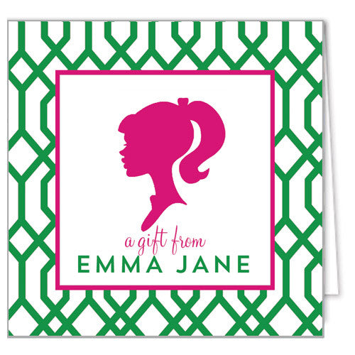 Girl Silhouette Enclosure Cards + Envelopes | More Colors